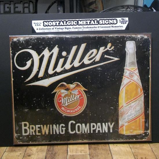 ミラービール看板 ティンサイン アンティーク アメリカン雑貨の画像