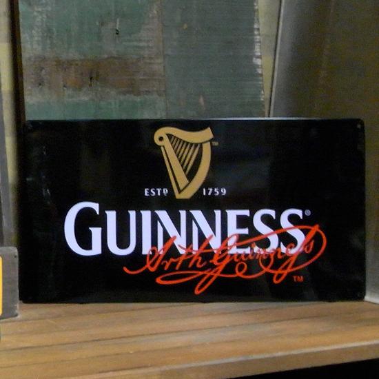 ギネスビール看板 ブリキ看板 ティンサイン  アメリカン雑貨の画像
