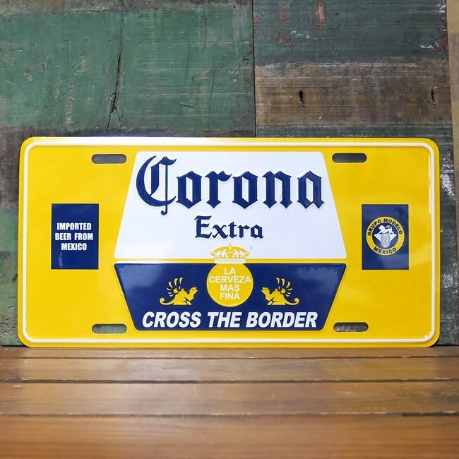 コロナビール看板 ティンプレート 看板 ライセンスプレート ティンサイン アメリカン雑貨の画像