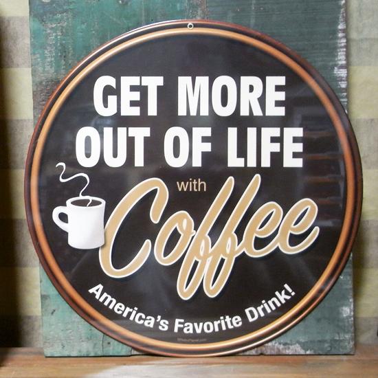 珈琲スティールプレート COFFEE ブリキ看板 ティンサイン アメリカン雑貨の画像