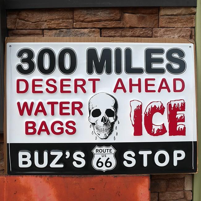ルート66 エンボス メタルサイン ROUTE66 Emboss Metal Sign 300 MILES インテリア ブリキ看板 ティンサイン アメリカン雑貨画像