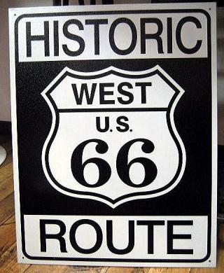 ルート66プレート ヒストリックブリキ看板 ティンサイン アメリカン雑貨画像