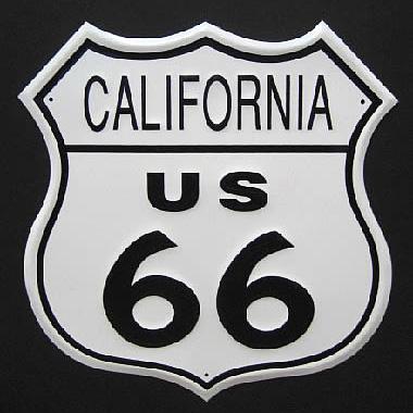 ルート66プレート カリフォルニアブリキ看板 ティンサイン アメリカン雑貨の画像