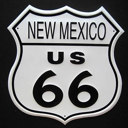 ルート66プレート ニューメキシコブリキ看板 ティンサイン アメリカン雑貨の画像