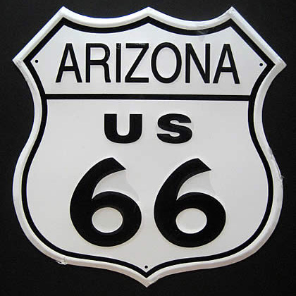 ルート66プレート アリゾナブリキ看板 ティンサイン アメリカン雑貨画像