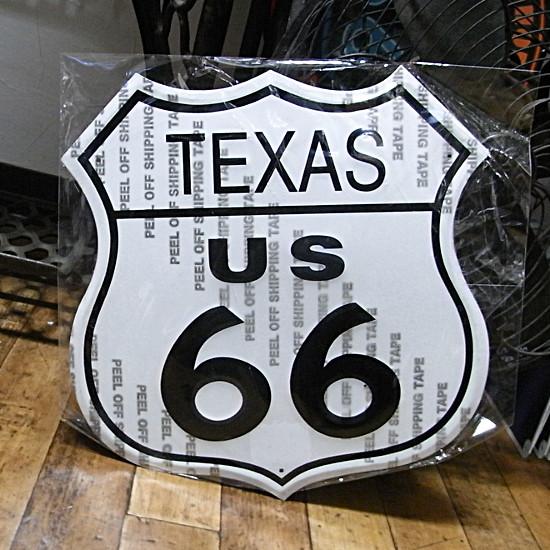 ルート66プレート テキサスブリキ看板 ティンサイン アメリカン雑貨の画像