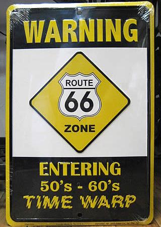ルート66プレート サイン看板 ティンサイン アメリカン雑貨の画像