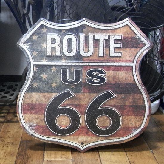 ルート66プレート 看板 ティンサイン アメリカン雑貨の画像