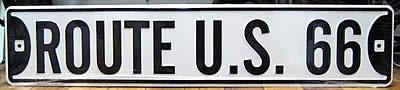 ルート66プレート ストリート看板 ティンサイン アメリカン雑貨の画像