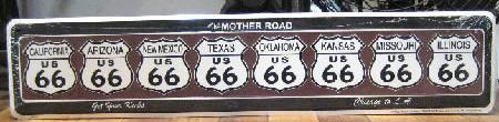 ルート66プレート マザーロード看板 ティンサイン アメリカン雑貨の画像