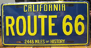 ルート66ライセンスプレート カリフォルニア ナンバープレートサイズ ティンサイン アメリカン雑貨の画像