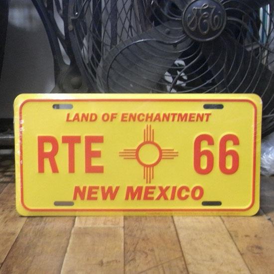 ルート66ライセンスプレート ニューメキシコ ナンバープレートサイズ ティンサイン アメリカン雑貨の画像