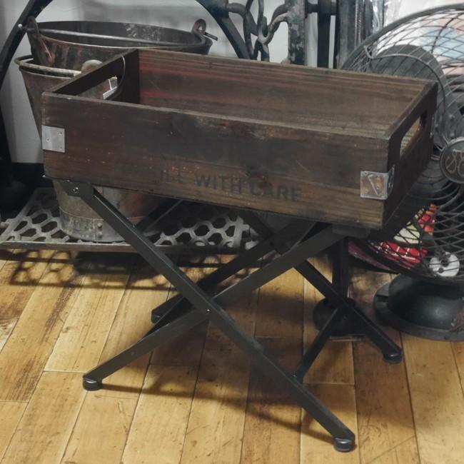 ウッドクレート 折りたたみ木箱 フラジール ホールディングスタンド ガーデニング雑貨画像