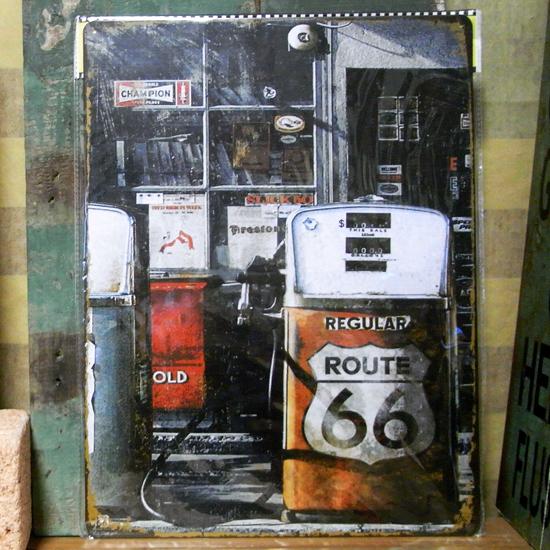 ルート66サイン看板  ティンサイン アメリカン雑貨の画像