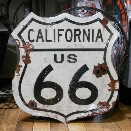ルート66スティール看板 カリフォルニア ティンサイン アメリカン雑貨の画像