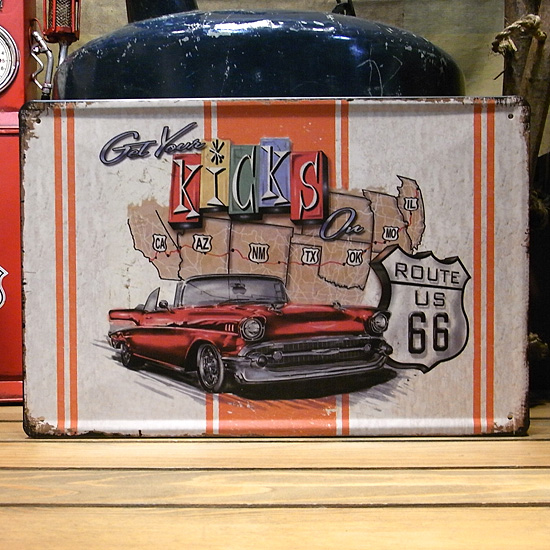 ルート66ティンプレート  ティンサイン アメリカン雑貨の画像