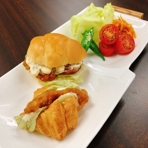 土曜の昼ご飯!サンドイッチセット画像