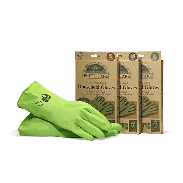 イフユーケア のゴム手袋と紙のパッケージ