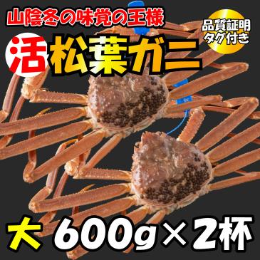 活松葉ガニ 大600g×2杯(品質証明タグ付き)画像