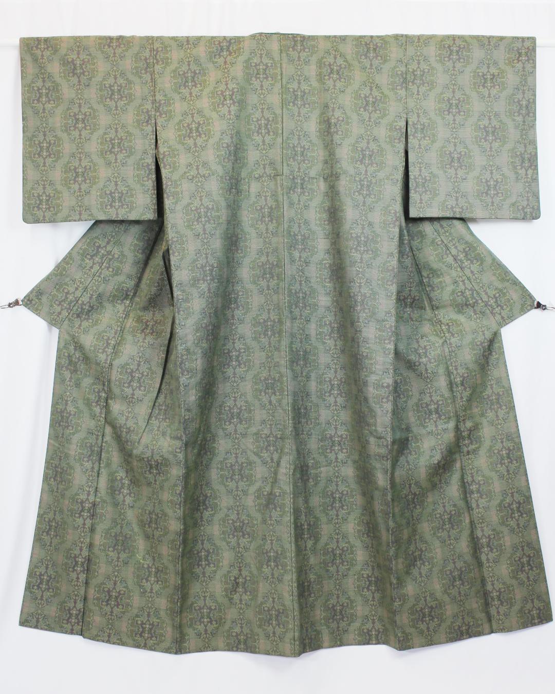 【古着物】織り柄単衣着物画像
