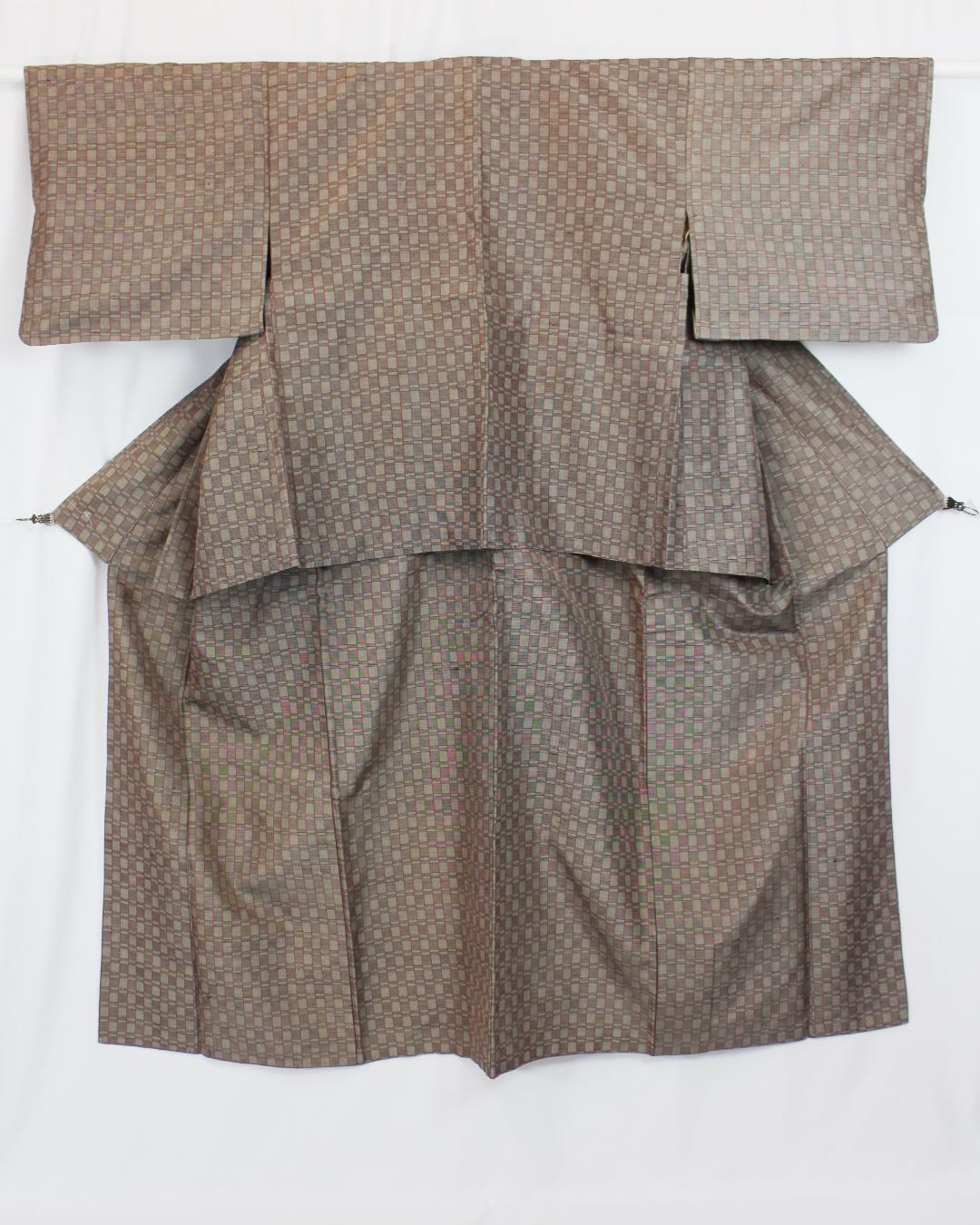 【古着物】小紋着物羽織アンサンブル画像