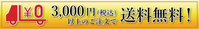 税込3000円以上のご注文で送料無料!