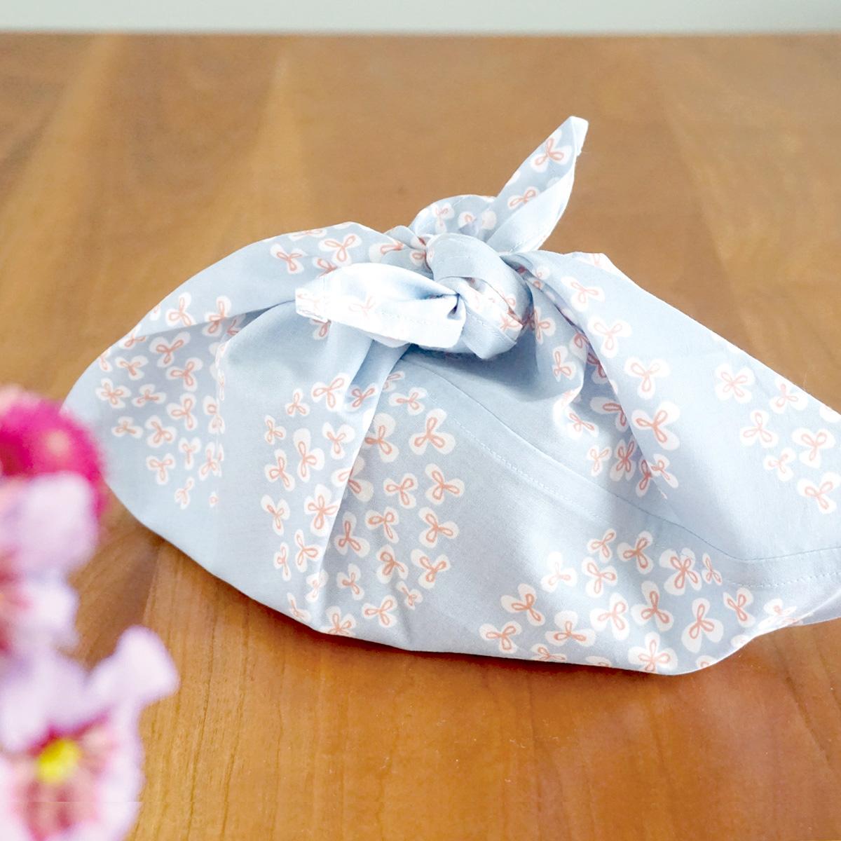 お弁当用あずま袋ピンクの花柄】画像