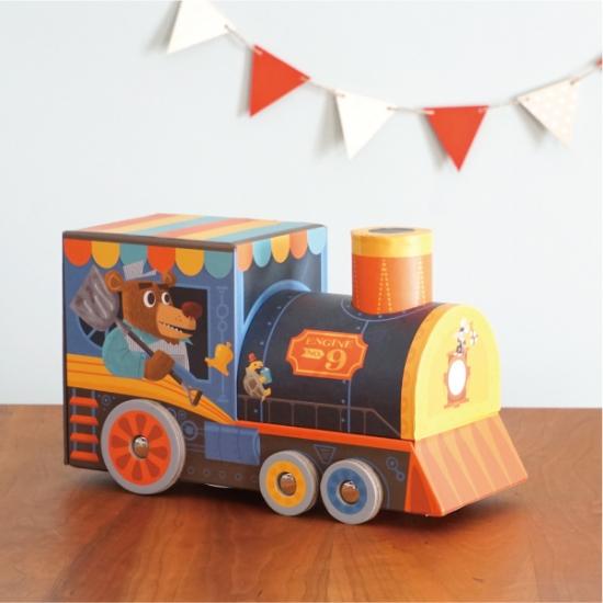 【アウトレット】機関車のケースでも遊べる!パズル&プレイセット トレインステーション画像