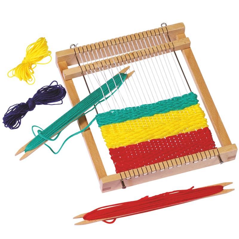 ママと楽しむ子供用簡単編み機のおもちゃの画像