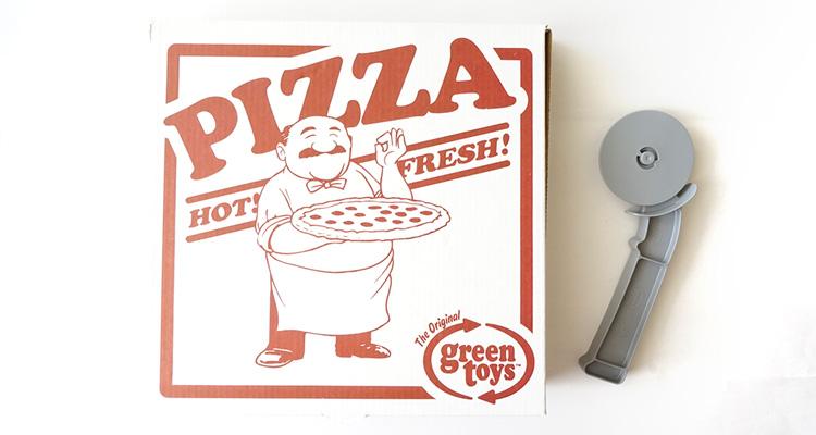 ピザ屋さんは箱付きなので、デリバリーもできます