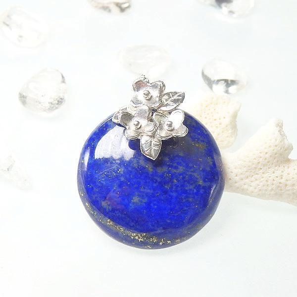 ラピスの小花飾りペンダントの画像