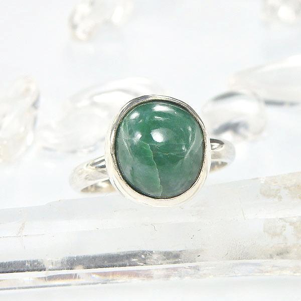 糸魚川翡翠のリング(グリーン) 12号の画像