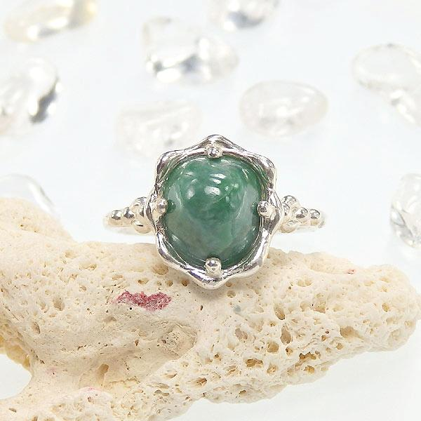 糸魚川翡翠のリング(グリーン) 13.5号の画像