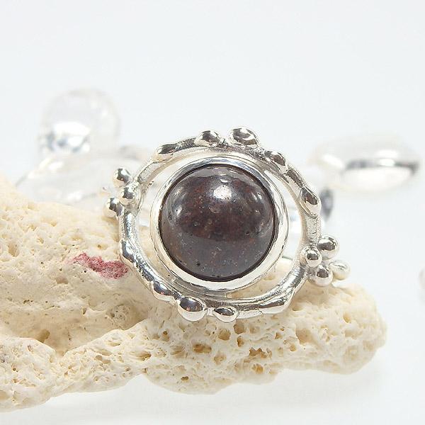 サハラNWA869 コンドライト隕石のデザインリング 14.5号画像