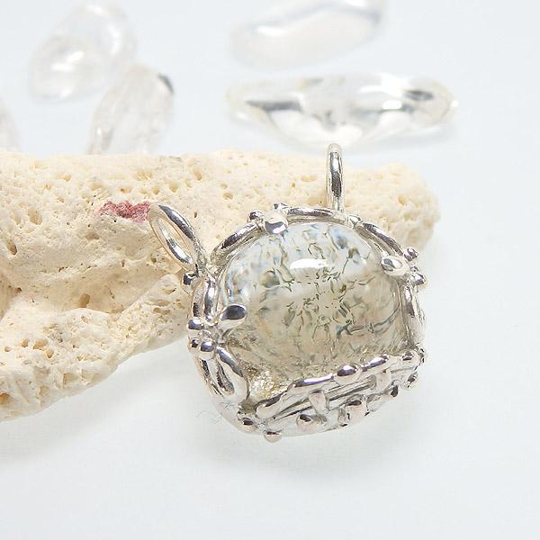 ヒマラヤ水晶のデザインペンダントの画像