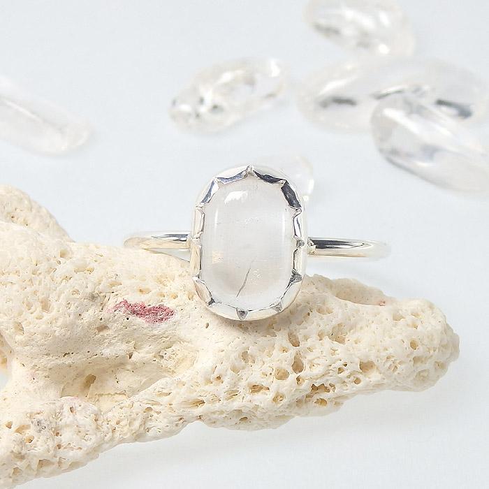 マニカラン産 ヒマラヤ水晶のリング 16.5号の画像