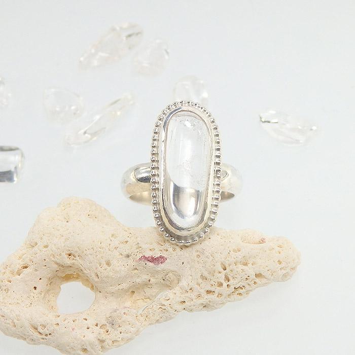 マニカラン産 ヒマラヤ水晶のリング 15.5号画像