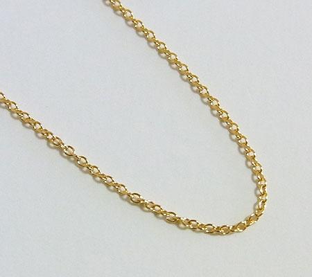 ゴールドフィルド アズキチェーン 50センチ 1.1ミリ 画像