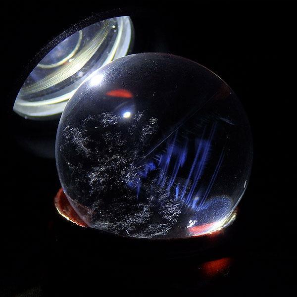 ブルーゴーストクォーツ 丸玉 27.2グラム 27ミリの画像
