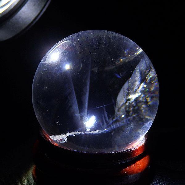 ブルーゴーストクォーツ 丸玉 39.5グラム 30ミリの画像