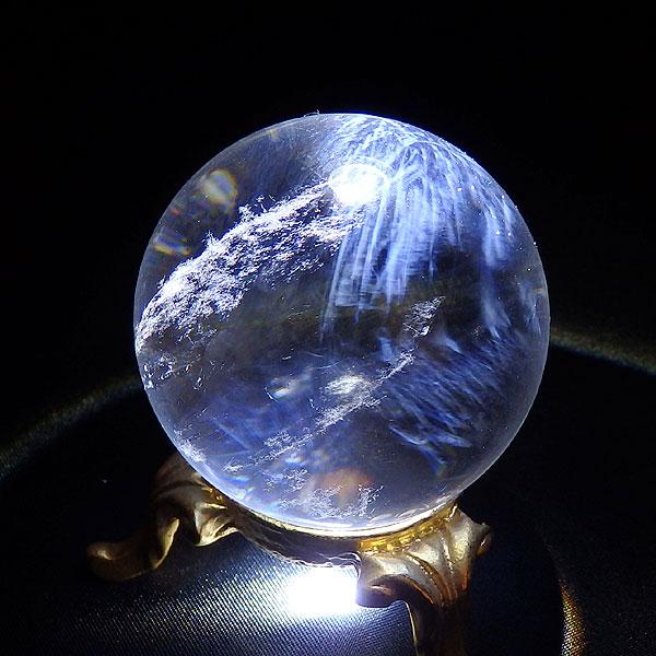 ブルーゴーストクォーツ 丸玉画像