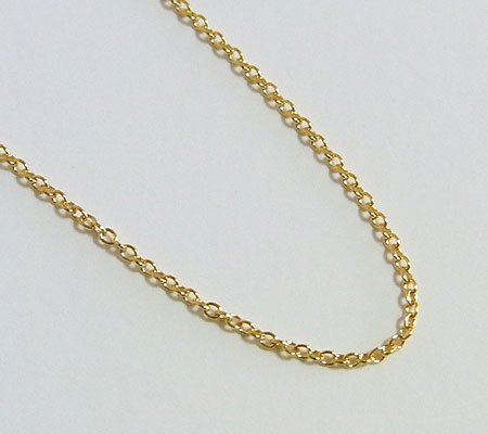 ゴールドフィルド アズキチェーン 45センチ 1.1ミリ 画像