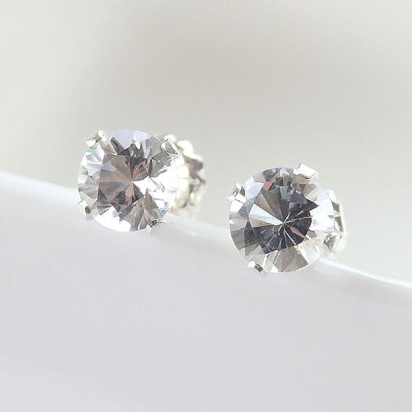 ハーキマーダイヤモンドのピアス 5ミリ 再販の画像