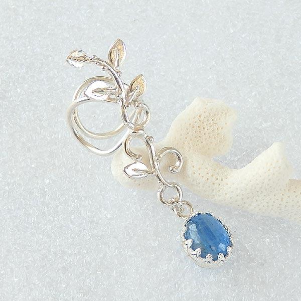 カイヤナイトの蔓飾りイヤーカフ 左耳用の画像