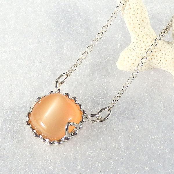 オレンジムーンストーンのネックレス画像