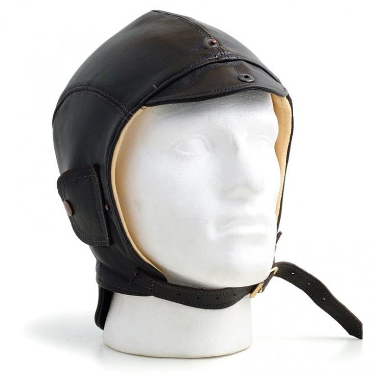 スピットファイヤー・レザーヘルメット(ブラウン)画像