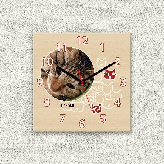 ペットのお写真からつくる!オリジナル時計 キティクロック画像