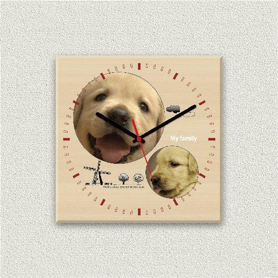 ペットのお写真からつくる!オリジナル時計 カントリー画像