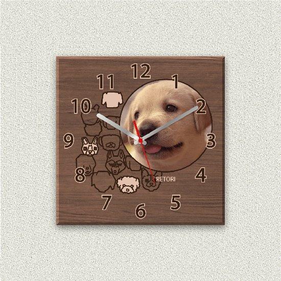 ペットのお写真からつくる!オリジナル時計 パピィクロック画像