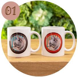 うちの子オリジナルペアマグカップのご購入にオススメのシーン1。ご両親様への特別な贈り物に